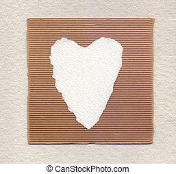 i miei pezzi di carta a forma di cuore strappati a mano...