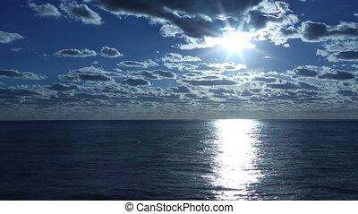 calm ocean and overcast sky