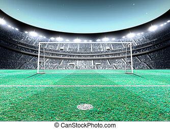 Floodlit Stadium Night