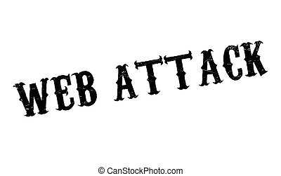 Web Attack rubber stamp. Grunge design with dust scratches....
