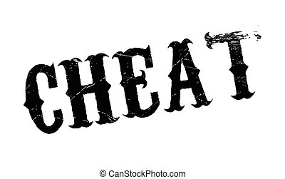 Cheat rubber stamp. Grunge design with dust scratches....