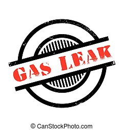 Gas Leak rubber stamp. Grunge design with dust scratches....
