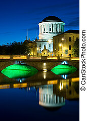 Four Courts Building - River Liffey and Four Courts building...