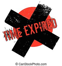Time Expired rubber stamp. Grunge design with dust...