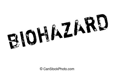 Biohazard rubber stamp. Grunge design with dust scratches....