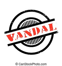 Vandal rubber stamp. Grunge design with dust scratches....