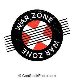 War Zone rubber stamp. Grunge design with dust scratches....
