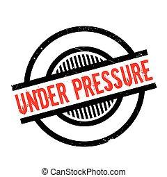 Under Pressure rubber stamp. Grunge design with dust...