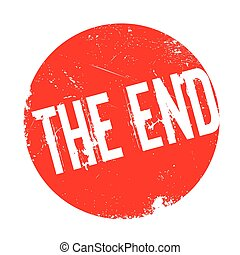 The End rubber stamp. Grunge design with dust scratches....