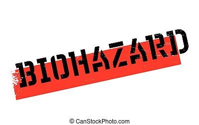 Biohazard rubber stamp. Grunge design with dust scratches....