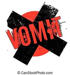 Vomit rubber stamp. Grunge design with dust scratches....