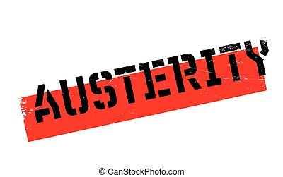 Austerity rubber stamp. Grunge design with dust scratches....