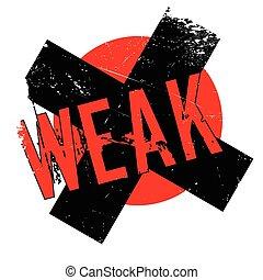 Weak rubber stamp. Grunge design with dust scratches....