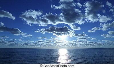 sailing in calm ocean
