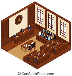 Court Session Isometric Template - Court session isometric...