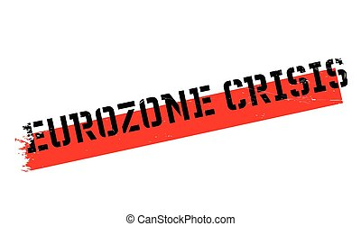Eurozone Crisis rubber stamp. Grunge design with dust...