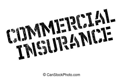 Commercial Insurance rubber stamp. Grunge design with dust...