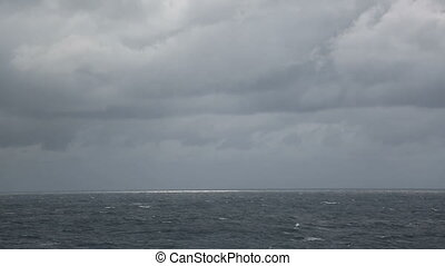 cloudy sky and stormy sea