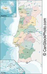 Map of Portugal - The Portuguese Republic is a country on...
