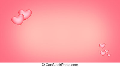 pink red hearts background
