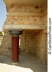 palace ruins in Crete - palace ruins which are found during...