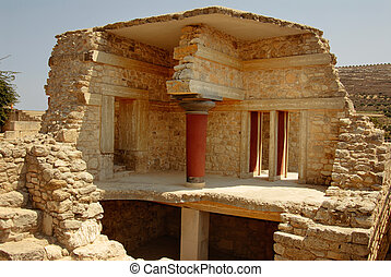 palace ruins of Knossos - palace ruins which are found...