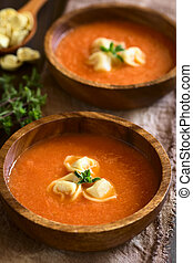 Tomato Soup with Tortellini