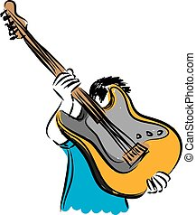 man with a guitar illustration
