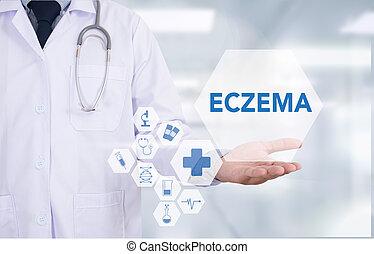 ECZEMA dermatitis eczema skin of patient , The problem with...