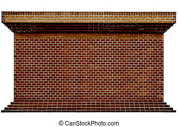 Decorative red brick wall texture in horizontal view