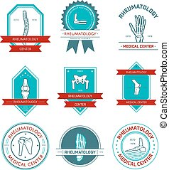 Rheumatology medical center badge set design - Rheumatology...