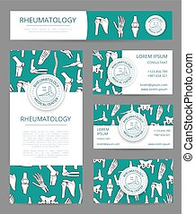 Rheumatology medical center banner template set -...
