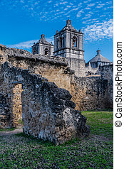 Ruins of Spanish Mission along the Missions Trail in San...