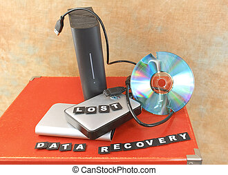 Lost data recovery - Destroyed DVD disc and lost data on...