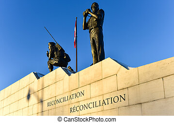 Reconciliation: The Peacekeeping Monument - Ottawa, Canada -...
