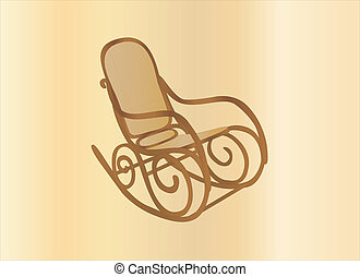 rocking chair - wooden rocking chair