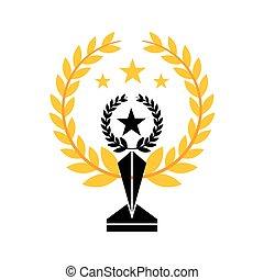 trophy in star shape