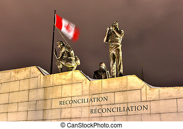 Reconciliation: The Peacekeeping Monument - Ottawa - Canada...