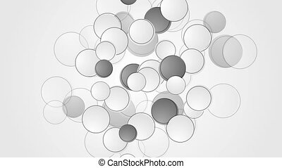 Abstract grey and white circles video animation - Abstract...