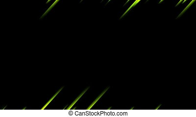Abstract green glowing stripes video animation - Abstract...