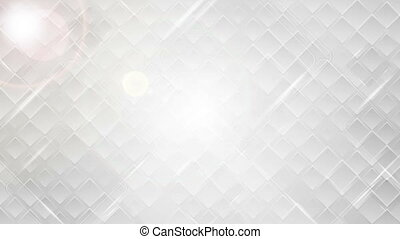 Abstract glossy grey tech squares video clip