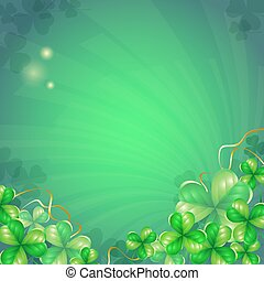 Background with clover leaves