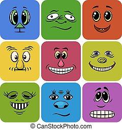 Monster Smileys, Set