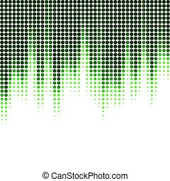 Vector illustration with halftone pattern. ?bstract green...