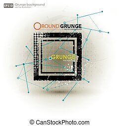 Grunge textures. Abstract vector grunge background poster...