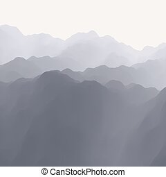 Mountain Landscape. Mountainous Terrain. Abstract...