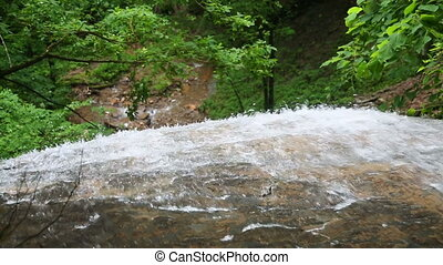 Water Splashing Over the Edge Loop - Water splashes over a...