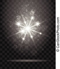 Shining Star on Transparent Background Illustration - Bright...