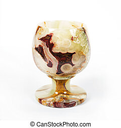 Wineglass from onyx - Glass for wine from onyx is isolated...
