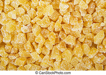 Candied dried ginger background - Candied dried ginger...